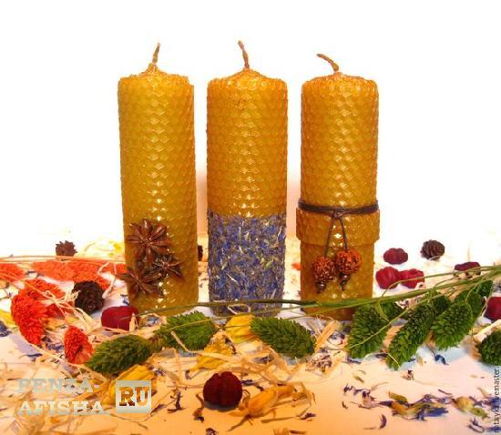 Как сделать свечу с воска медового